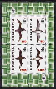 Udmurtia Republic 1998 WWF - Birds perf sheetlet containing complete set of 4 unmounted mint