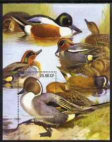 Congo 2002 Ducks #2 perf m/sheet unmounted mint