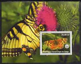 Congo 2002 Butterflies #2 perf m/sheet with Scout Logo unmounted mint