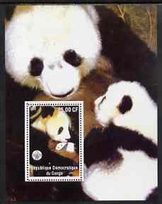 Congo 2002 Pandas #2 perf m/sheet with Scout Logo unmounted mint