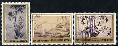 North Korea 1984 Paintings perf set of 3 cto used SG N2431-33