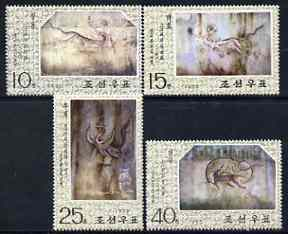North Korea 1975 Mural Paintings from Tombs perf set of 4 cto used SG N1357-60