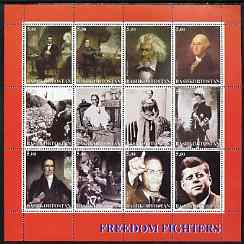 Bashkortostan 2001 Freedom Fighters perf sheetlet containing set of 12 values unmounted mint