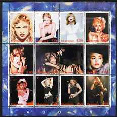 Chakasia 2000 Madonna perf sheetlet containing 12 values unmounted mint
