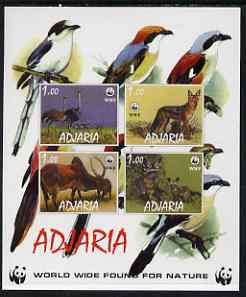 Adjaria 1998 WWF imperf sheetlet containing set of 4 values unmounted mint