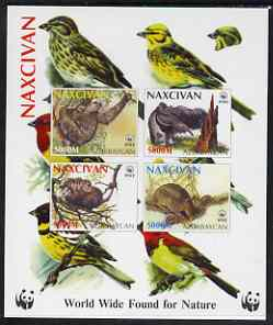 Naxcivan Republic 1998 WWF imperf sheetlet containing set of 4 values unmounted mint