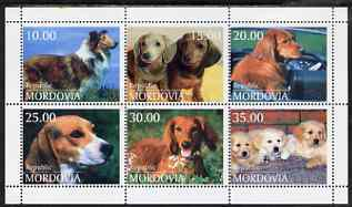 Mordovia Republic 1998 Dogs perf sheetlet containing set of 6 unmounted mint