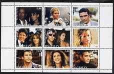 Dagestan Republic 1999 Movie Stars perf sheetlet containing 9 values unmounted mint