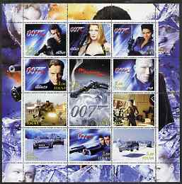 Touva 2003 James Bond - Die Another Day perf sheetlet containing 12 values unmounted mint