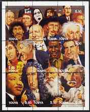 Touva 2002 Personalities (Caricatures) perf sheetlet containing 9 values unmounted mint