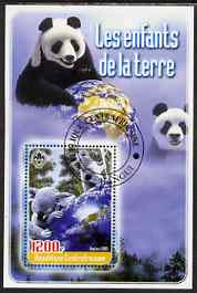 Central African Republic 2005 Young Animals of the World #1 (Bears) perf souvenir sheet containing 1 value with Scout logo, fine cto used