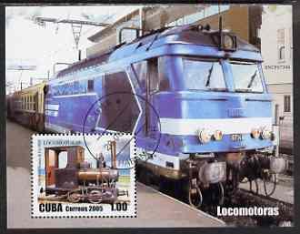 Cuba 2005 Locomotives perf m/sheet fine cto used