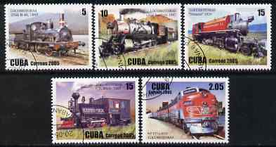 Cuba 2005 Locomotives perf set of 5 fine cto used