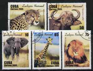 Cuba 2005 National Zoo perf set of 5 fine cto used SG 4856-60