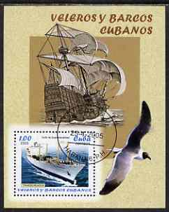 Cuba 2005 Ships - Fishing & Merchant Shipping perf m/sheet fine cto used SG MS 4842