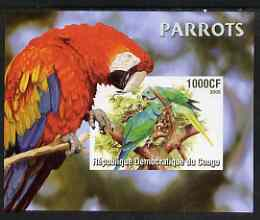 Congo 2005 Parrots imperf m/sheet unmounted mint