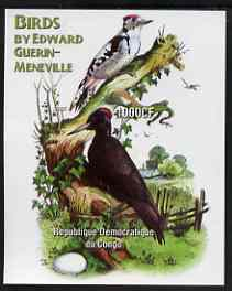 Congo 2005 Birds by Guerin-Meneville (Woodpeckers) imperf m/sheet unmounted mint