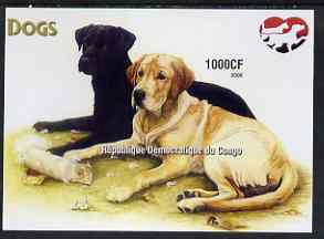 Congo 2005 Dogs (Retrievers) imperf m/sheet unmounted mint, stamps on dogs, stamps on retrievers