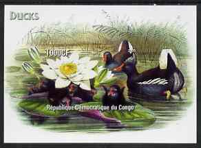 Congo 2005 Ducks with Water Lily imperf m/sheet unmounted mint
