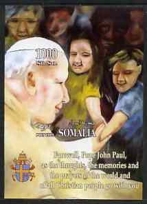 Somalia 2005 Farewell to Pope John Paul II imperf m/sheet unmounted mint