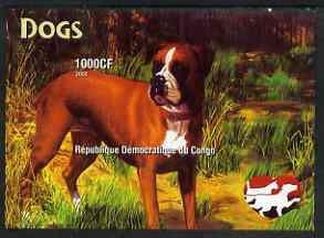 Congo 2005 Dogs imperf m/sheet unmounted mint