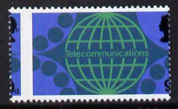 Great Britain 1969  Post Office Technology 9d (Telephone) with vert perfs shifted 4mm unmounted mint, as SG 809