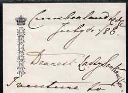 Great Britain 1886 two page letter on notepaper with a Crowned HELENA motif with original envelope to Lady Southampton both written in the hand of Princess Helena, Queen ...