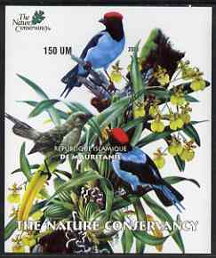 Mauritania 2003 The Nature Conservancy imperf m/sheet (Birds by John Audubon) unmounted mint