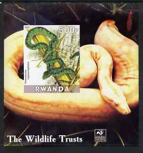 Rwanda 2003 The Wildlife Trusts imperf m/sheet (Snakes) unmounted mint