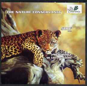 Ivory Coast 2003 The Nature Conservancy imperf m/sheet (Leopard) unmounted mint