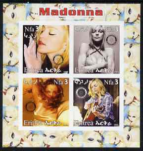 Eritrea 2003 Madonna #2 imperf sheetlet containing set of 4 values each with Rotary International Logo unmounted mint