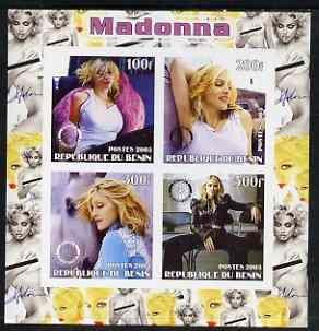 Benin 2003 Madonna #2 imperf sheetlet containing set of 4 values each with Rotary International Logo unmounted mint