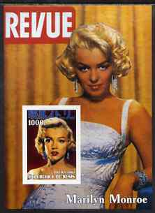 Benin 2003 Marilyn Monroe #3 imperf m/sheet (Cover of Revue) unmounted mint