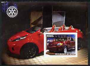 Benin 2003 Modern Cars imperf m/sheet (Toyota) with Rotary Logo unmounted mint