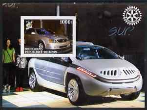 Benin 2003 Modern Cars imperf m/sheet (Mitsubishi & Suzuki) with Rotary Logo unmounted mint