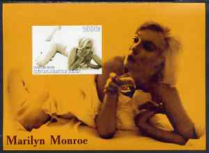 Benin 2003 Marilyn Monroe #2 imperf m/sheet (drinking wine) unmounted mint