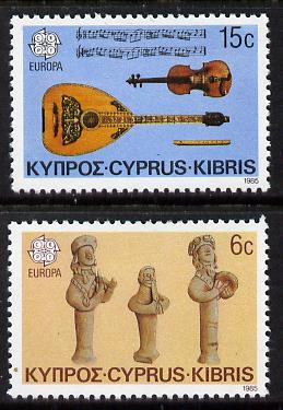 Cyprus 1985 Europa - Music Year set of 2 unmounted mint, SG 663-64*