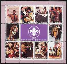 Chakasia 2000 Scout Paintings by Norman Rockwell perf sheetlet containing 12 values unmounted mint