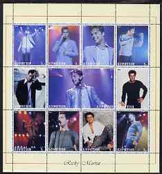 Buriatia Republic 2000 Ricky Martin perf sheetlet containing 12 values unmounted mint