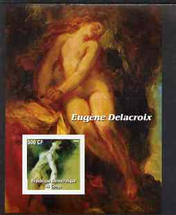 Congo 2003 Nude Paintings by Eugene Delacroix imperf m/sheet unmounted mint
