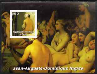 Congo 2003 Nude Paintings by Jean Auguste Dominique Ingres imperf m/sheet unmounted mint
