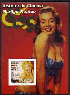 Congo 2003 History of the Cinema - Marilyn Monroe #4 imperf m/sheet (Reg Magazine) unmounted mint