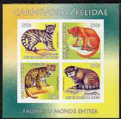 Benin 2003 World Fauna #03 - Mountain Cats imperf sheetlet containing 4 values unmounted mint