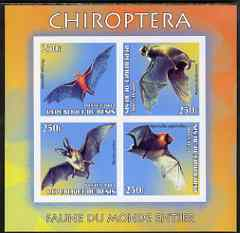 Benin 2003 World Fauna #14 - Bats imperf sheetlet containing 4 values unmounted mint