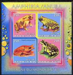 Benin 2003 World Fauna #19 - Frogs & Toads imperf sheetlet containing 4 values unmounted mint
