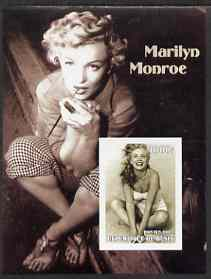 Benin 2002 Marilyn Monroe #1 imperf s/sheet containing single value unmounted mint