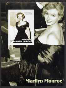 Benin 2002 Marilyn Monroe #3 imperf s/sheet containing single value unmounted mint