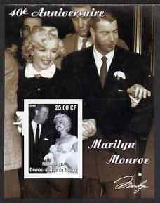 Congo 2002 40th Death Anniversary of Marilyn Monroe #01 imperf m/sheet unmounted mint