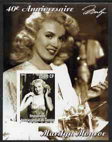Congo 2002 40th Death Anniversary of Marilyn Monroe #04 imperf m/sheet unmounted mint