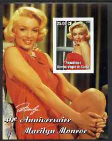 Congo 2002 40th Death Anniversary of Marilyn Monroe #06 imperf m/sheet unmounted mint